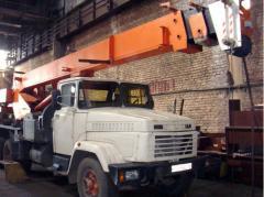 Repair of automobile cranes Lviv region