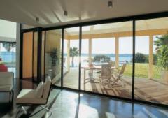 Sliding metalplastic balconies and doors