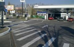 Marking of gas station