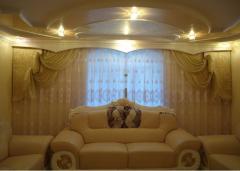 Индивидуальный пошив штор, гардин, ламбрекенов,Шторы для гостинной