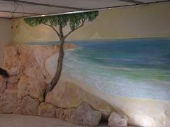 Барельф, роспись на стене