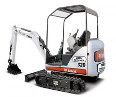 Прокат мини-экскаватора Bobcat 320