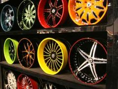 Powder painting of rims