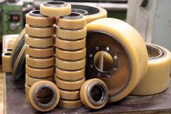 Реставрация полиуретанового покрытия колеса