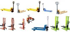 Repair and service of hydraulic carts (rokla) and