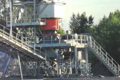 Installation of the crushing and sorting equipmen
