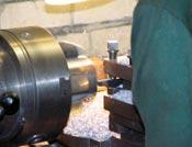 Turning works on metal