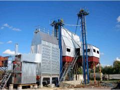 Строительство комплексов по очистке-сушке зерна