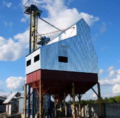 Строительство комплексов по очистке зерна (типа