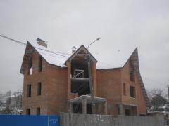 Destruction of brick and concrete walls, metal
