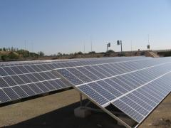 Construction of solar power stations under a