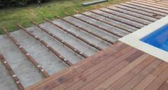 Laying of a terrace board