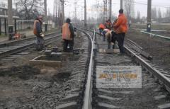 Repair of railway tracks and moving.