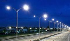 Монтаж наружного освещения дорог, площадок,