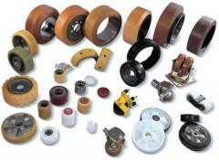 Восстановлением полиуретанового покрытия роликов, ремонт складских тележек