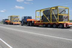 Transportation of not dimension across Ukraine and