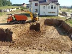 Земляные работы,  разработка котлованов, ...