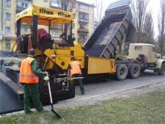 Strengthening of paving, strengthening of roads |