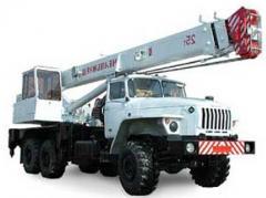 Repair of truck cranes, service. KC-35719-8A of