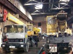 Repair of KC 4574, KC 3575 truck cranes