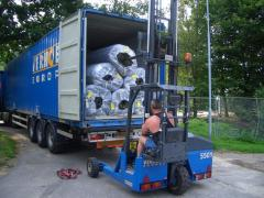 Delivery of an artificial grass