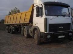 Lease of the dump truck 35tn