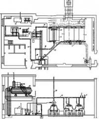 Design of boiler rooms on gaseous fuel
