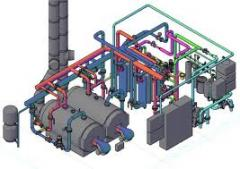 Design of boiler rooms on solid fuel