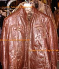 Покраска, восстановление кожаной куртки, одежды в
