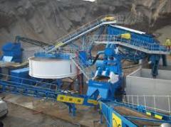 Installation start of the crushing equipment.