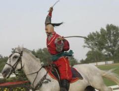Конное шоу Украинские козаки