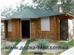 Wooden arbors. Installation of wooden arbors