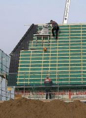 Крыша (монтаж деревянной стропильной...