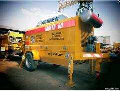 Rent of concrete pumps stationary. Services of the