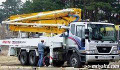 Rent of road-building equipment. Rent of concrete