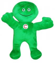 Green little man of Ukrsibbank