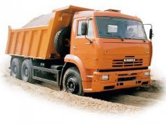 Services of the dump truck, Service in