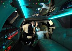 Hire, rent of a retrolimousine Exclusive of white