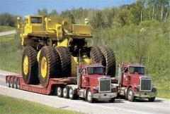 Transportation of large-size equipment, special