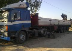 Car cargo transportation with the hydraulic