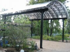 Installation of canopies of non-standard forms