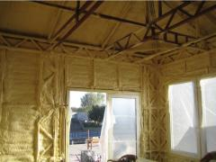 Works heat-insulating residential and industrial