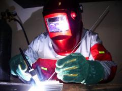 Repair of autoconditioners, welding by argon,