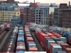 Railway forwarding of load