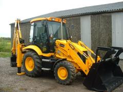 Rent of the JCB 3CX excavator loader