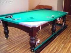 Перетяжка и реставрация бильярдных и покерных столов