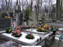 Services of care of graves on cemeteries, the