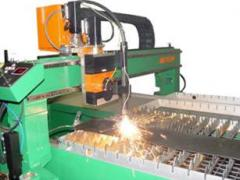 Plasma and laser cutting of sheet metal under the