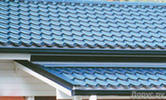 Roof of roofs a metal tile in Chernihiv