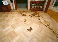 Laying of a parquet art to Lviv